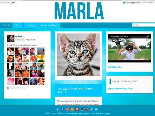 Marla, mi tema gratuito para WordPress | El nacimiento, Nacimiento y ...