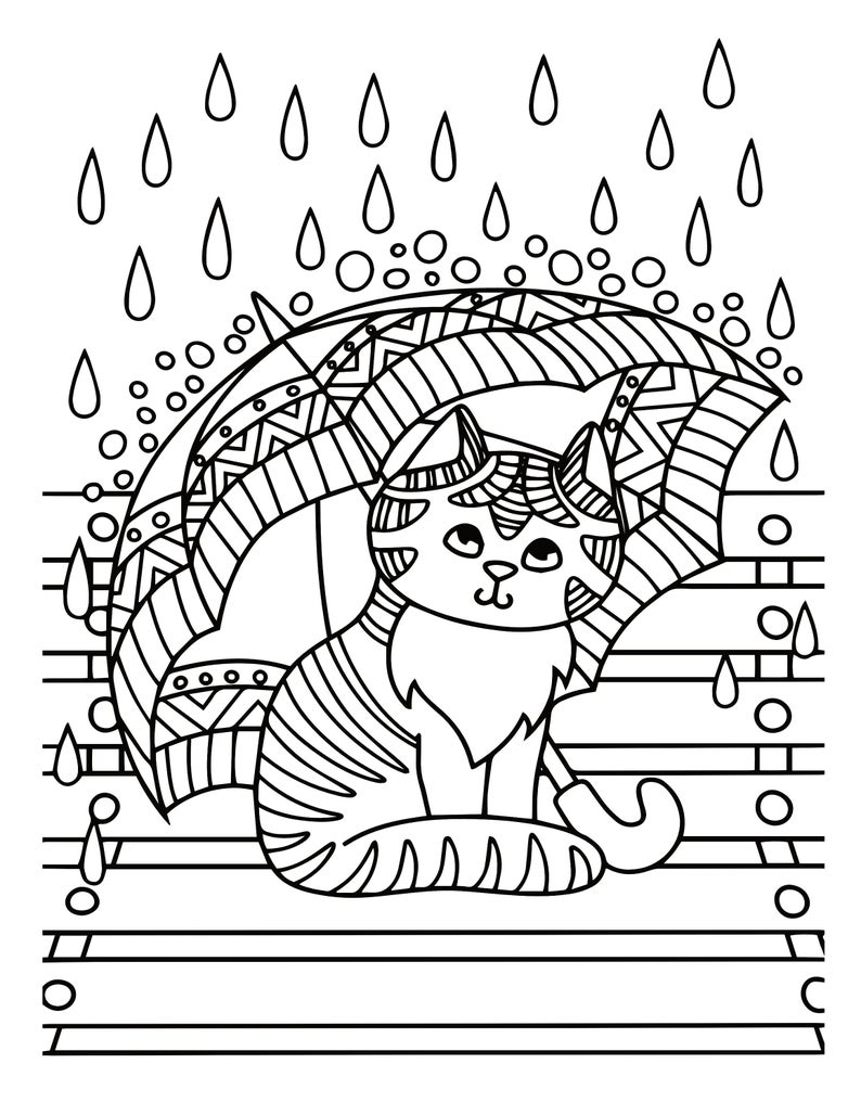 Kitten Coloring Pages 21 Printable Kitten Coloring Pages For Etsy In 2021 Cat Coloring Book Coloring Book Pages Coloring Books