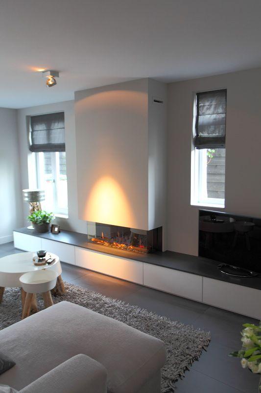 Openhaarden met tv meubels  Openhaard  Huis ideen