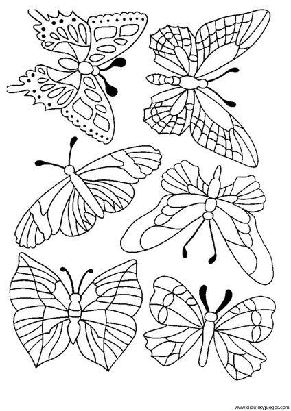 dibujos de mariposas para pintar - Buscar con Google   pajaros y ...