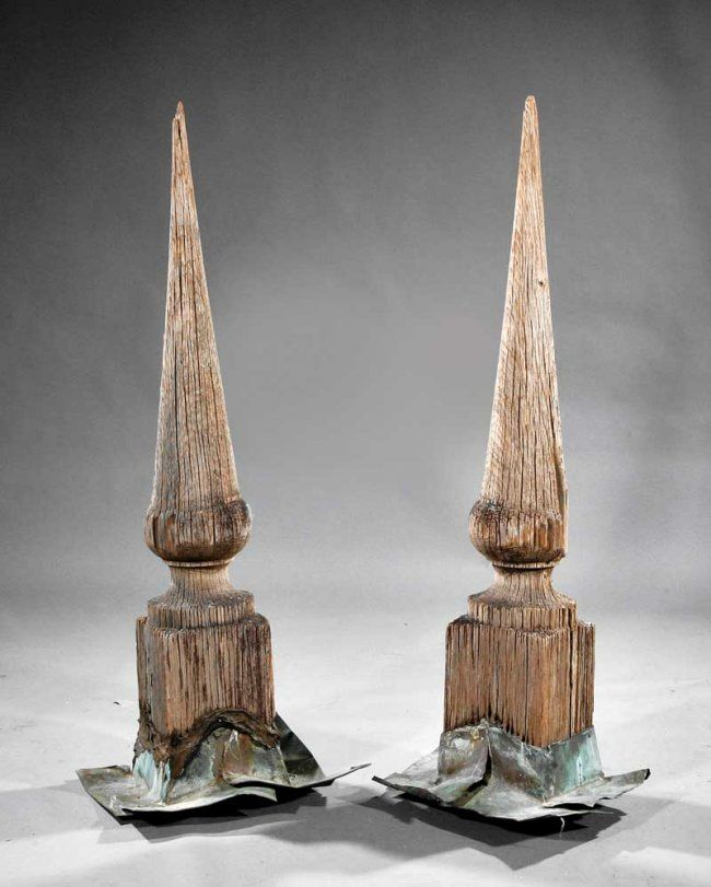 new orleans cypress architectural roof finials : lot 1148