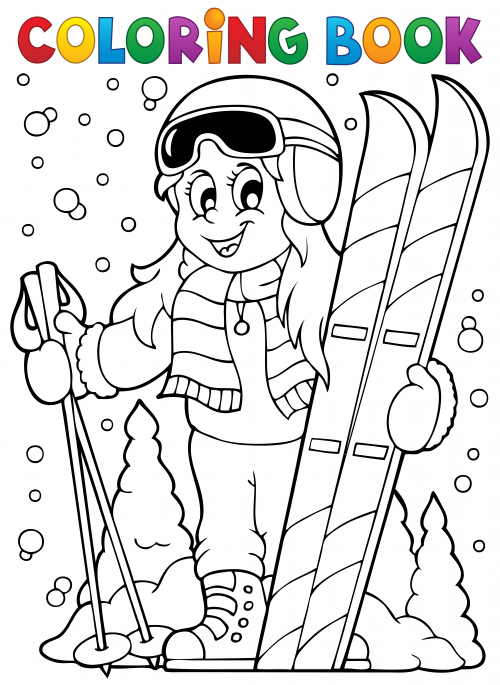 Skiing Coloring Page Kidspressmagazine Com Unicorn Coloring Pages Coloring Books Coloring Pages