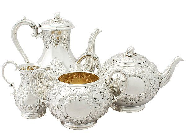 Sterling Silver Four Piece Tea Service - Antique Victorian  SKU: A3912 Price  GBP £3,450.00  http://www.acsilver.co.uk/shop/pc/Sterling-Silver-Four-Piece-Tea-Service-Antique-Victorian-67p7844.htm#.VkNf7b88rfc