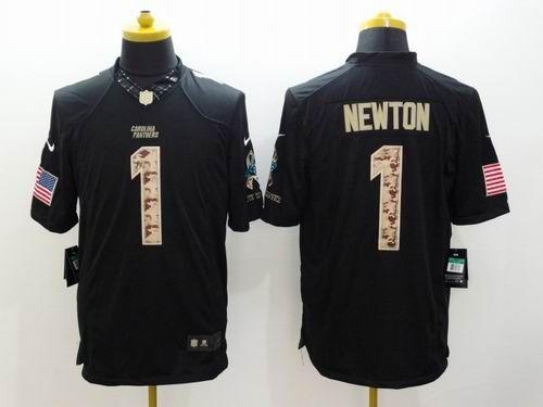 44f2629fc Nike Carolina Panthers  1 Cam Newton Limited Black Salute To Service Jersey  22.5