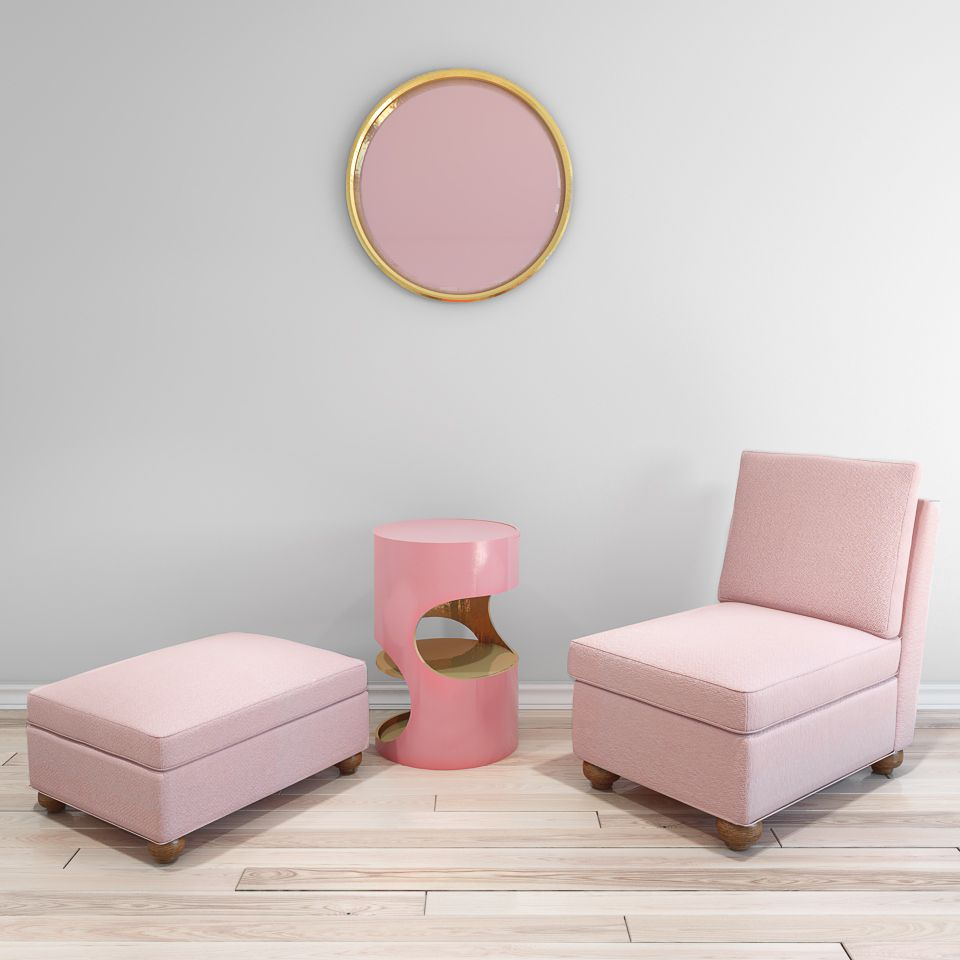 Pretty In Pink   Tandem Arbor Custom Furniture Collection Featuring The  Leroy Armless Chair In Pink