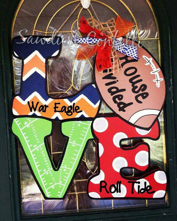 House Divided Door Hanger Football Door Hanger by SawdustConfetti & House Divided Door Hanger Football Door Hanger House Divided Fall ...