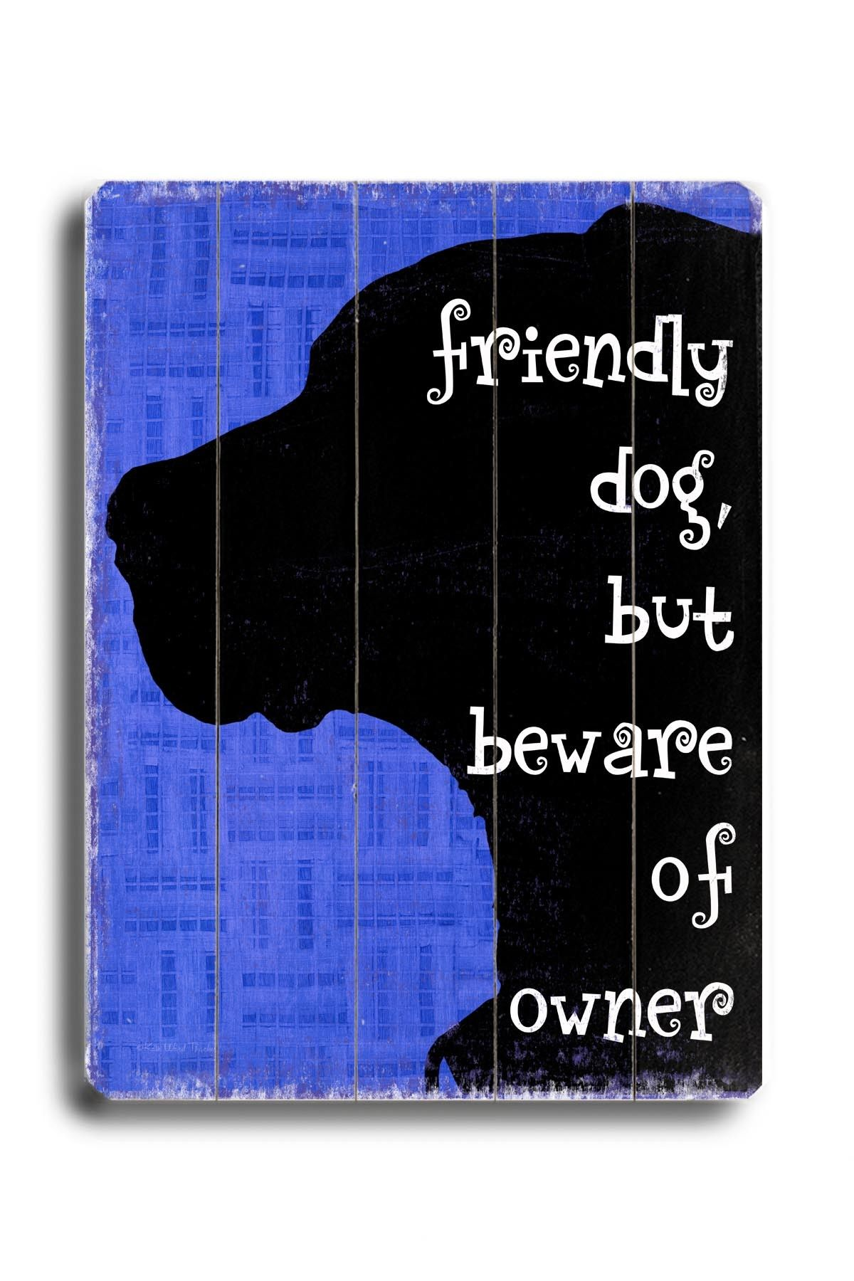 Beware of the Shih Tzu Funny Metal Wall Sign Hanging Plaque Dog Lovers Gift