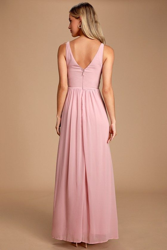 Lulus | Melvina Dusty Lavender Lace Chiffon Maxi Dress #lacechiffon