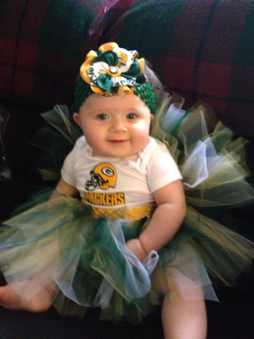 Pin By Mandy Schmidt On Babies Kids Things Green Bay Packers Tutu Packers Baby Green Bay Packers Crafts