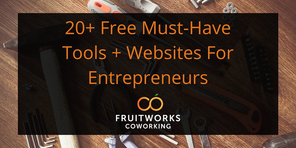 """FruitWorksCo on Twitter: """"Need to up your game? Here are 20+ Must Have Tools + Websites For An #Entrepeneur https://t.co/B0fVOpN2TS https://t.co/UoTFaCISuO"""""""