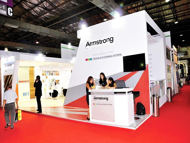 Property Exhibition Booth : Custom exhibition stall for armstrong know about our