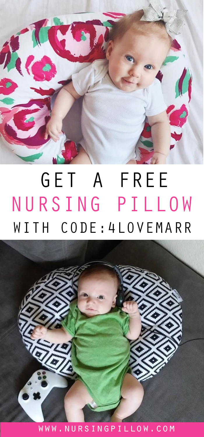 How I Got All Of This Cute Baby Gear For Free Love And Marriage Free Nursing Pillow Nursing Pillow Breastfeeding Pillow