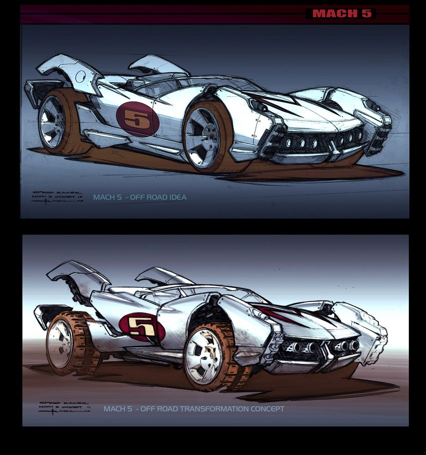 Speed Racer Concept Art By George Hull Motion Picture Concept Art