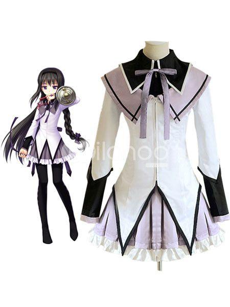 Puella Magi Madoka Magica Akemi Homura School Uniform Cosplay Costume