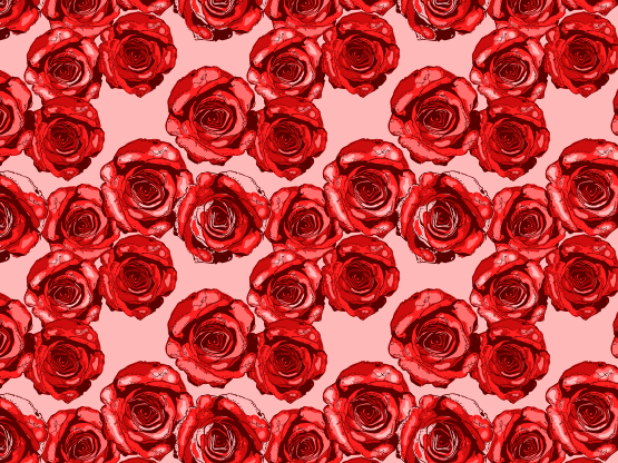 """""""Red Roses on Pink"""" by ghake"""