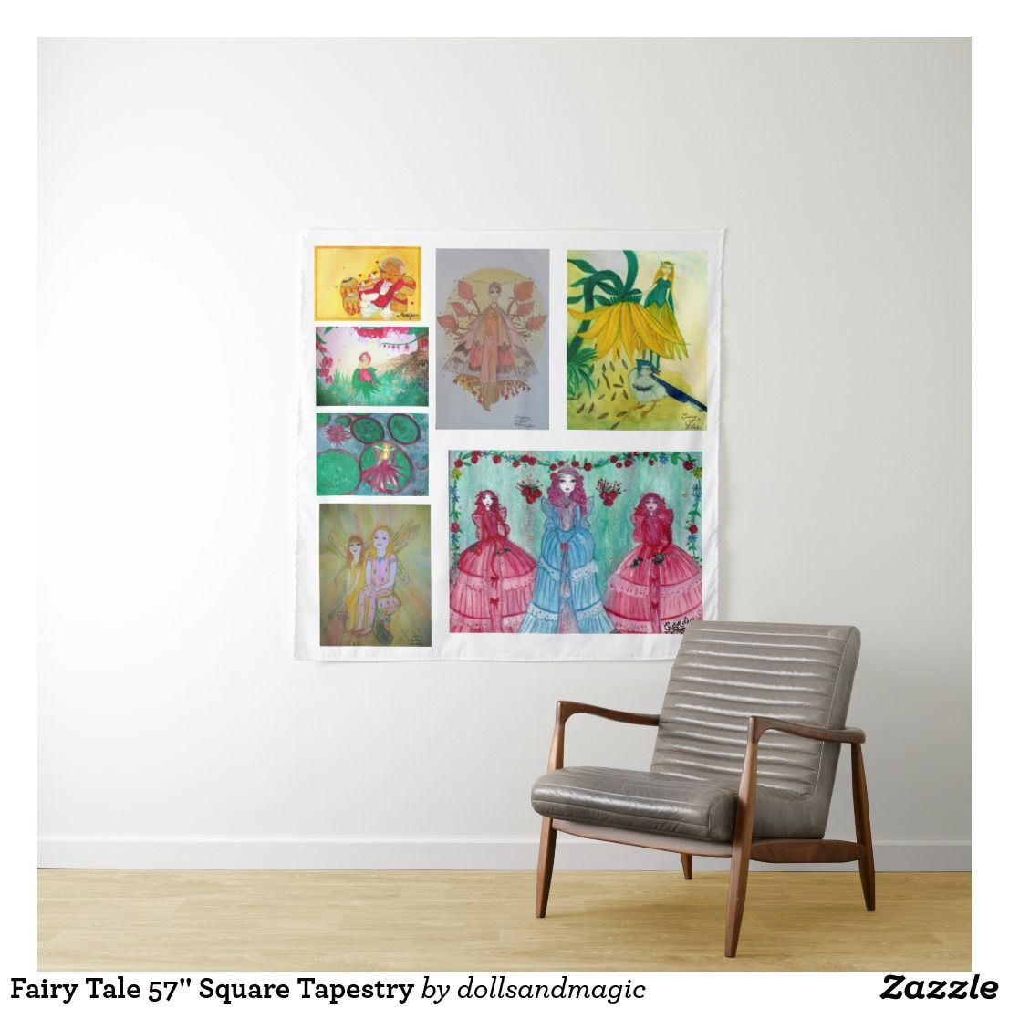 Fairy Tale 57 Square Tapestry