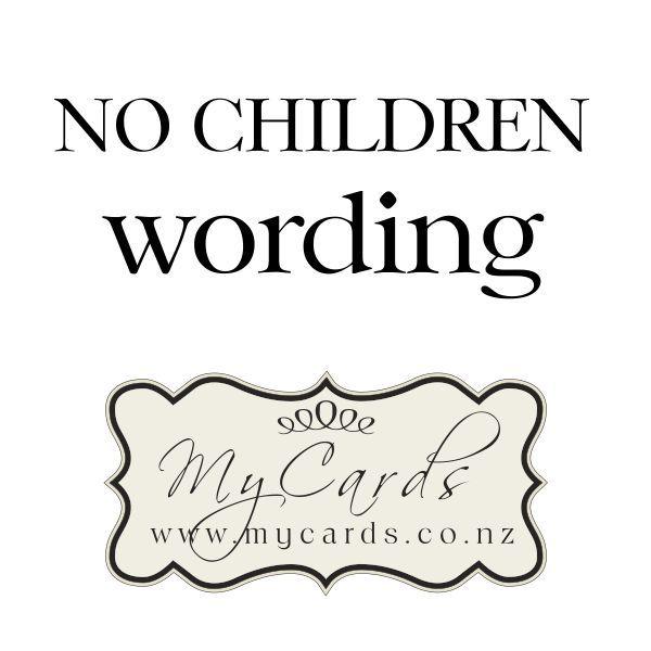 No Children Wording On Wedding Invitations