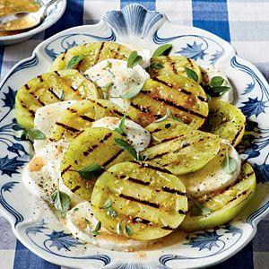 Grilled Green Tomatoes Caprese | MyRecipes.com