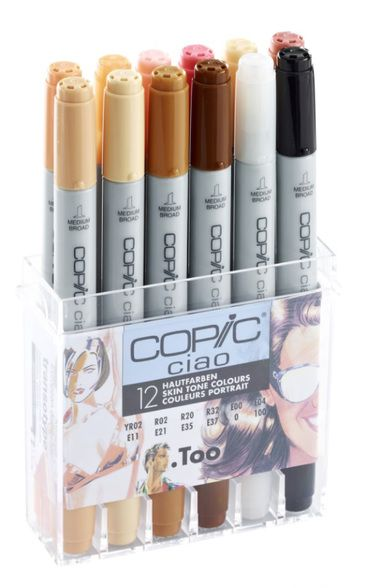 Copic ciao 12 pen set – skin tones colours