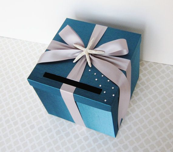 Beach Wedding Card Box