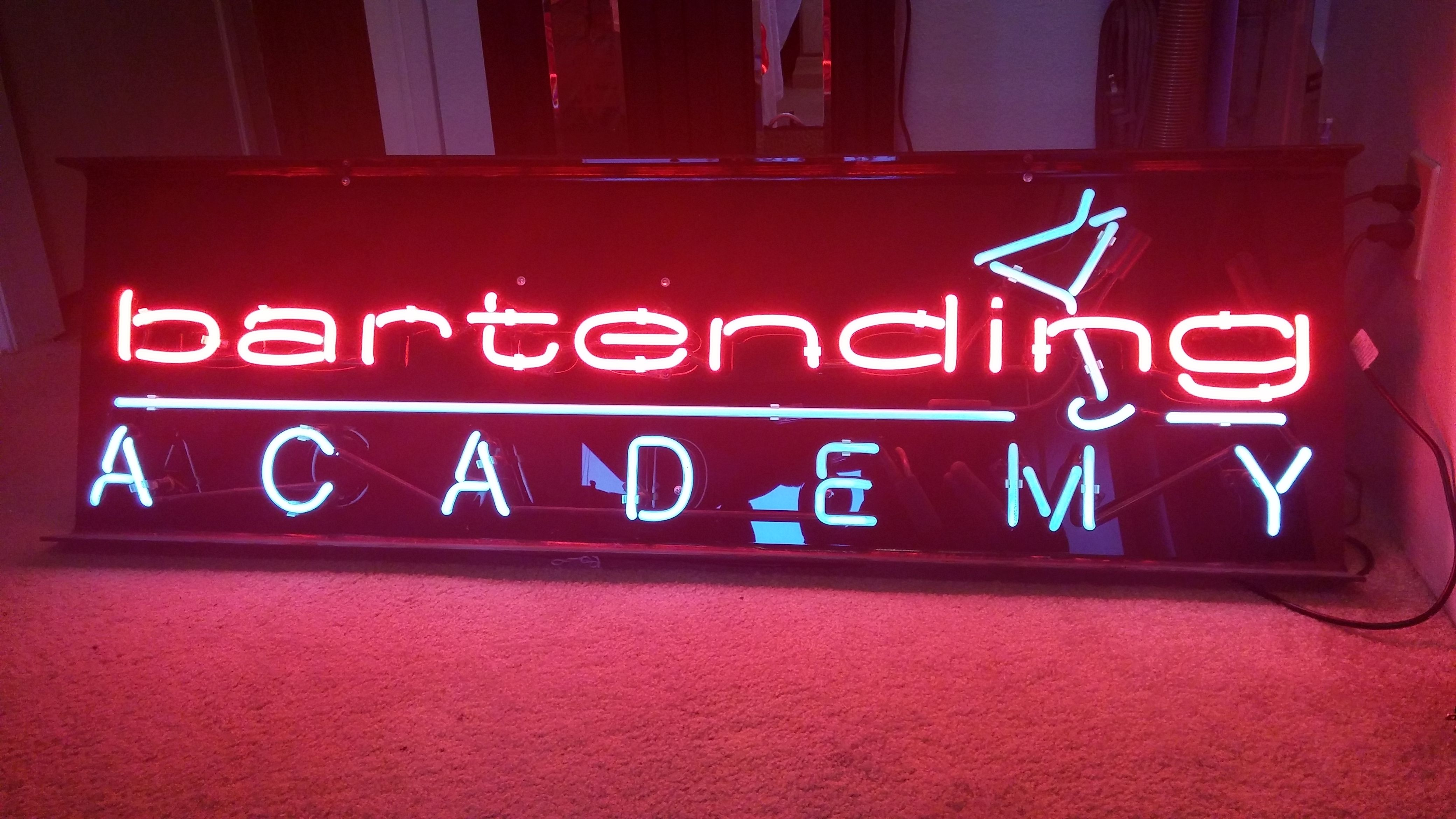 Lg neon sign. Great for man cave. $300. Email