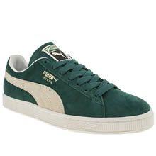 puma dark green suede classic trainers