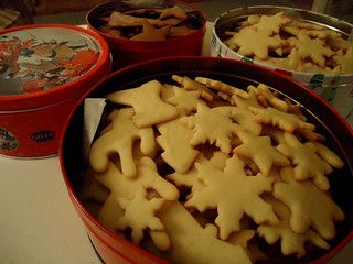 vintage tins, filled with cookies by On Bradstreet