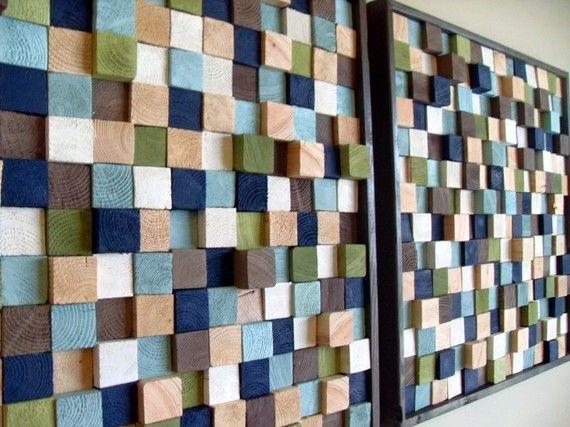 Wooden Blocks Wall Art Makes Me Go Hmm Wall Sculptures Wood