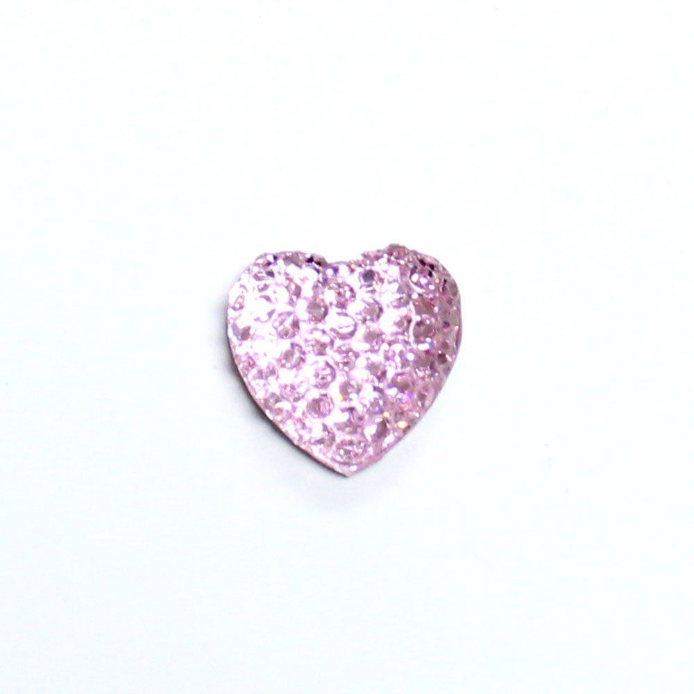 Storm Mart 100 Pcs x 12mm Bling Bling Heart Shaped Rhinestone (pink) ** For more information, visit image link.