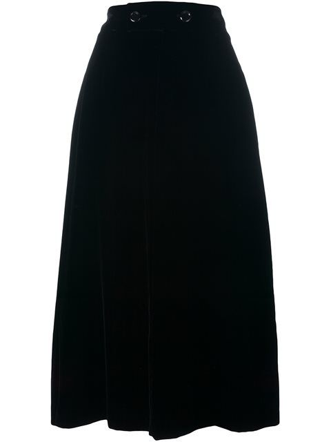 Angie velour midi skirt Saint Laurent Discount Cheap Cheap Sale New Free Shipping New Arrival Genuine Online ZXR8f