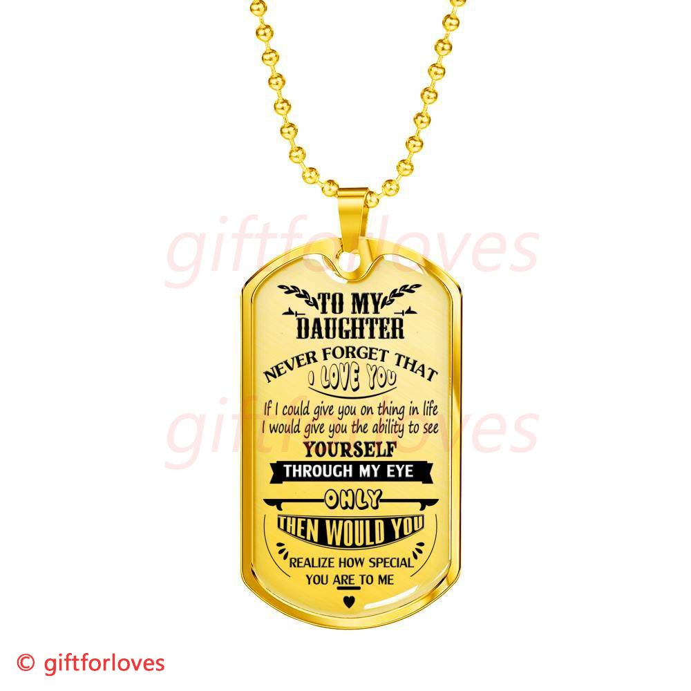 Luxury Birthday Gifts for Daughter My Daughter Necklace Dog Tag Personalized Spartans Warriors Dad /& Daughter Necklace Pendant Teen Girls