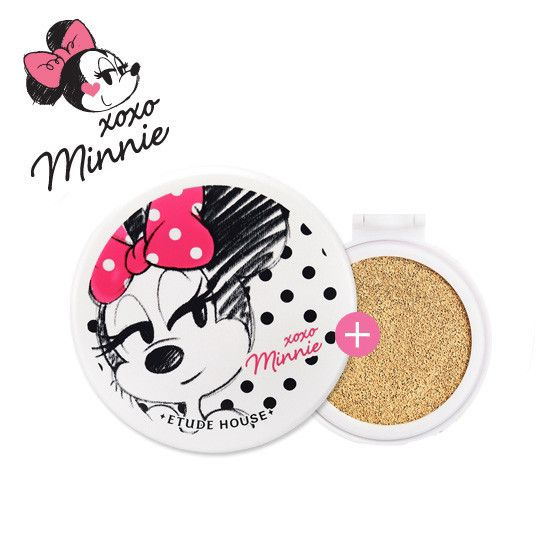 WE ARE BACK!!! Etude xoxo Minnie Any Cushion Case + Precious Mineral Any Cushion BB Cream Compact Type SPF 50+ PA+++ REFILL-SET