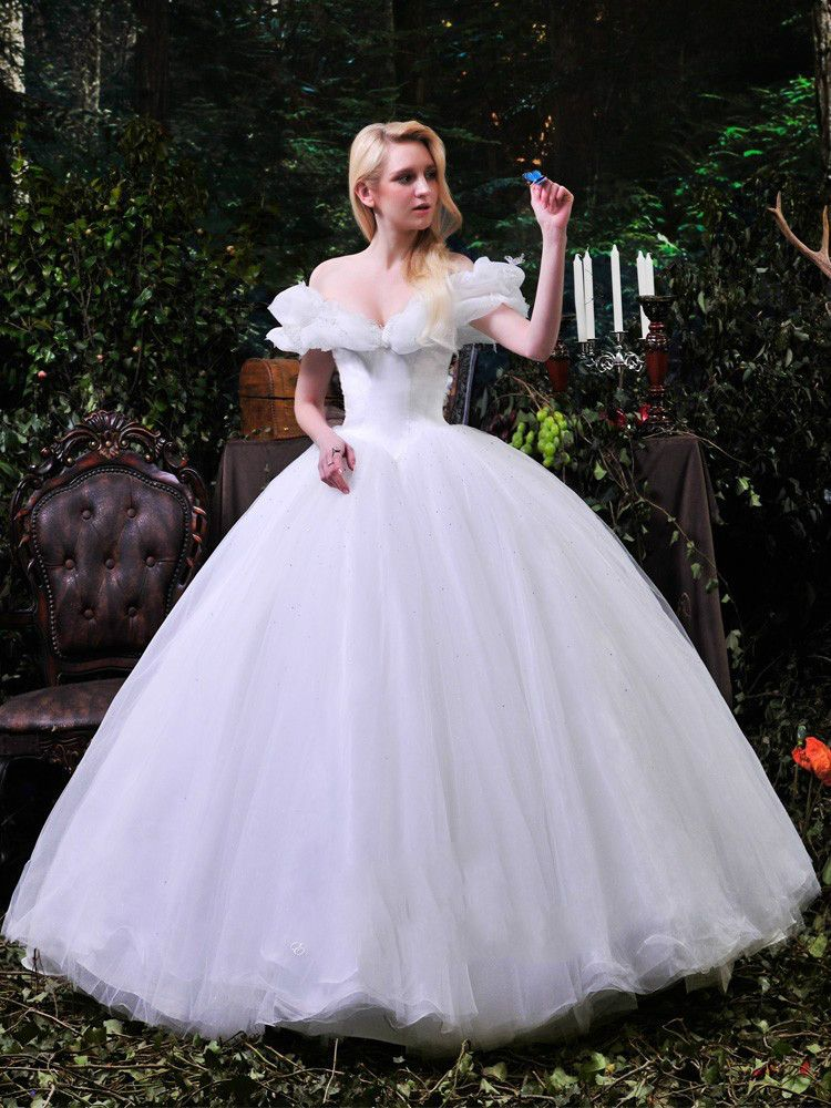 Cinderella Ball Gown Wedding Dresses Ball Gown Tulle Dreamy Cinderella Weding Wedding Dresses Cinderella Dream Wedding Dresses Princess Wedding Dresses