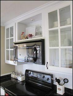12 microwave above range ideas