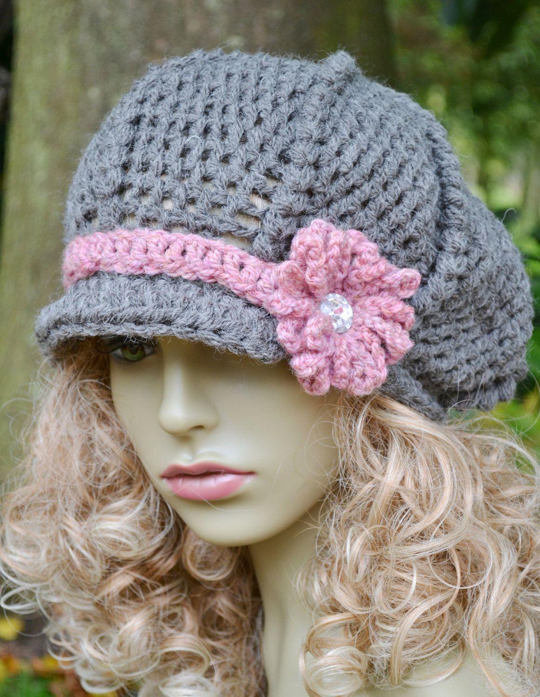 Pdf Baker Boy Newsboy Hat Pattern Crocheted Pattern Only