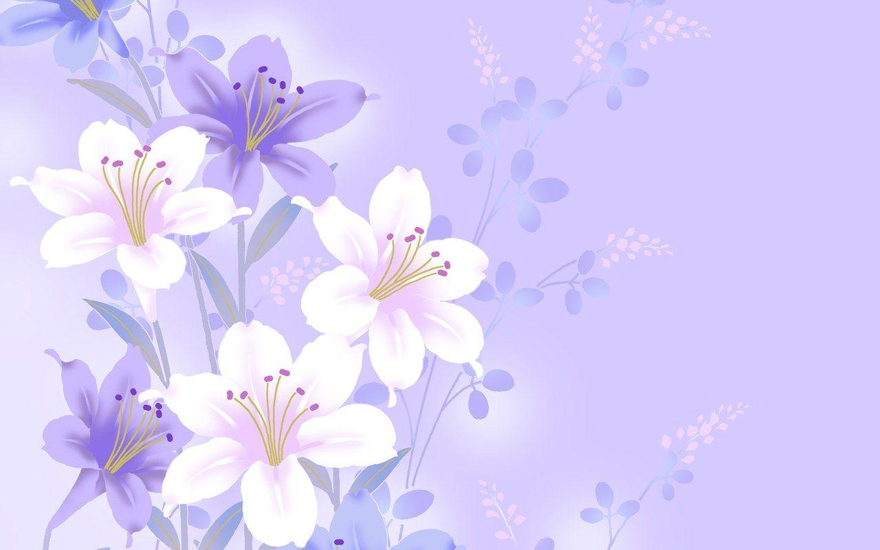 Flowers Lilies Purple Wallpaper - WallpaperSafari