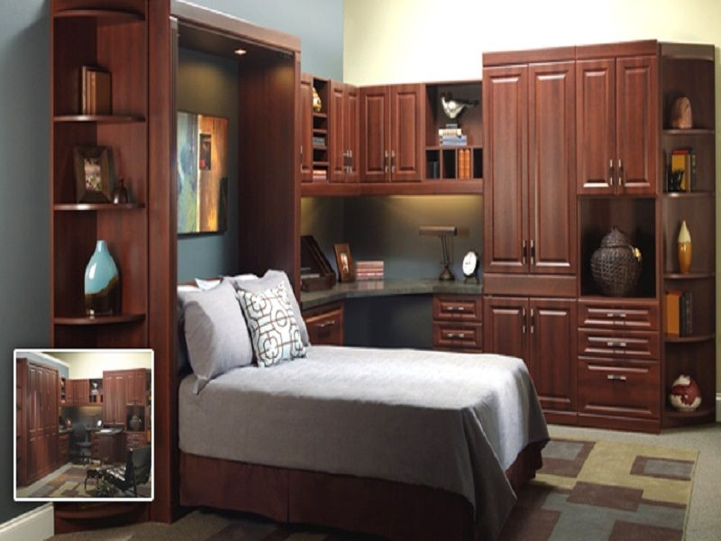 Horizontal Murphy Bed Bookcase