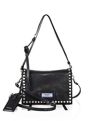 b6692bd2ca3c2d Prada Etiquette Studded Leather Shoulder Bag | BAG LADY | Prada ...