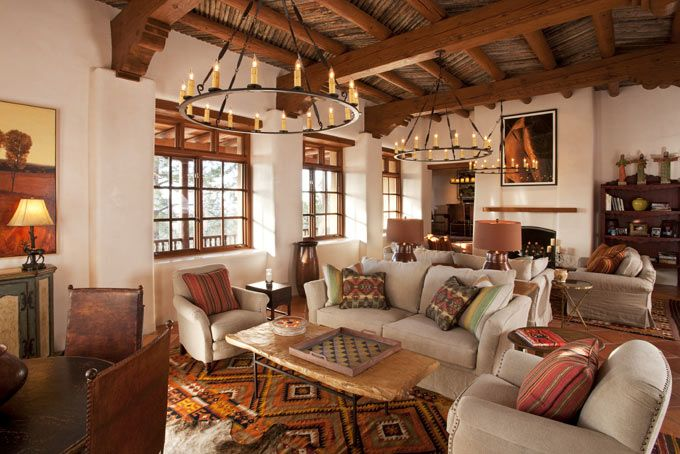 Rustic Santa Fe Style Decor Spanish Style Homes Southwestern Home