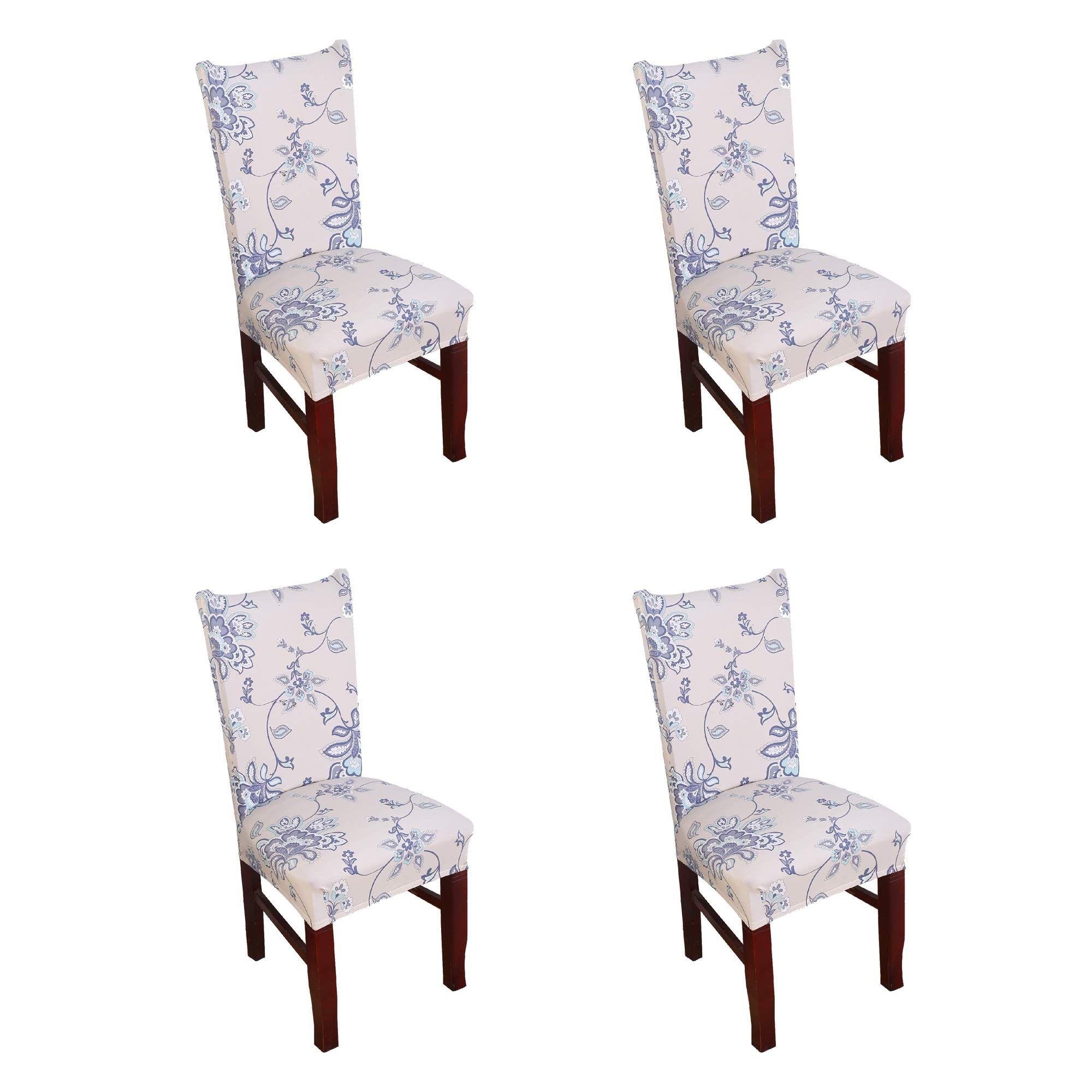 Argstar 4 Pack Chair Covers, Stretch Armless Chair