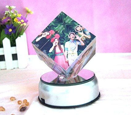 Amazon.com: No.2 Warehouse 7 LED Light Colorful Laser Crystals Rotating Display Base Stand with Adapter (3.5 Inch) + a Piece of Clean Cloth: Home & Kitchen