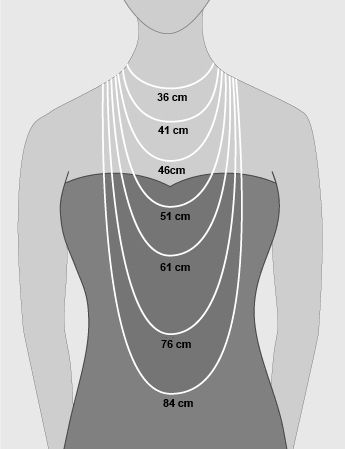 Guide To Necklace Lengths En Cm Collane Gioielli Catene
