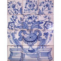 Azulejo Tile Panel Albarrada Flowers