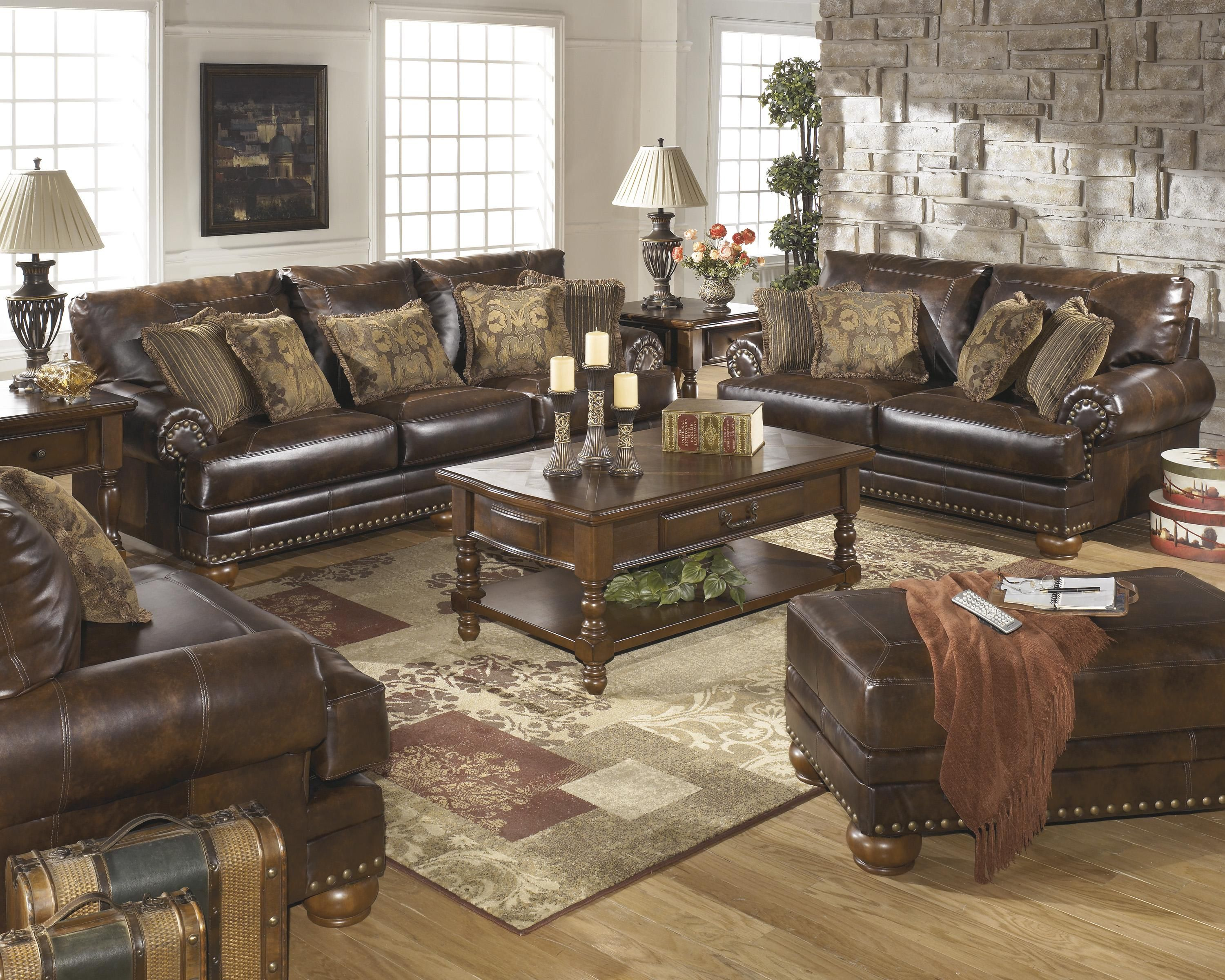 Chaling DuraBlend® - Antique Stationary Living Room Group by Signature Design by Ashley