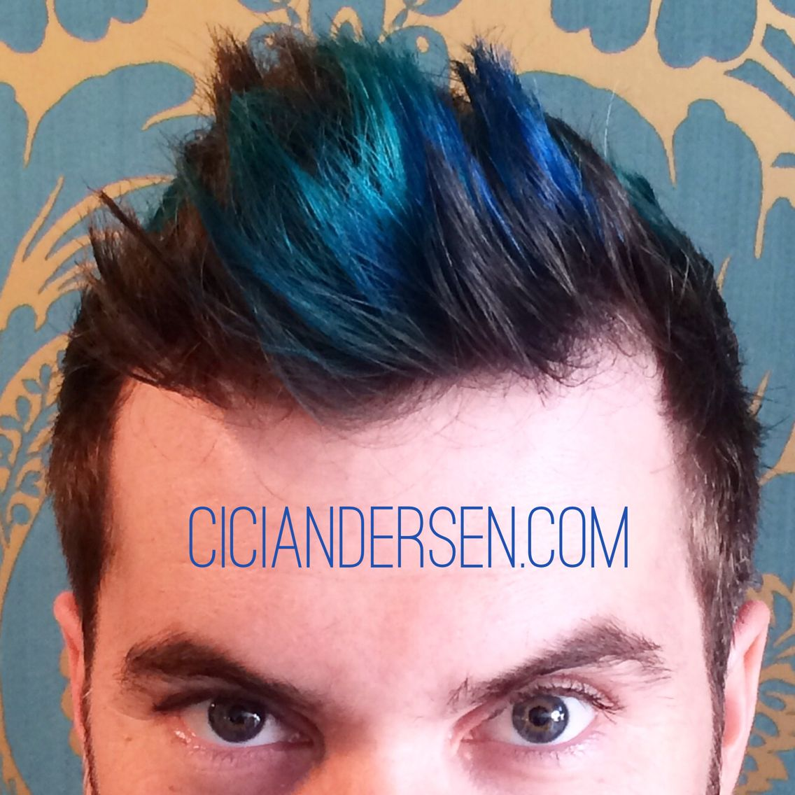 Teal and blue highlights for men merman hair is so in right now
