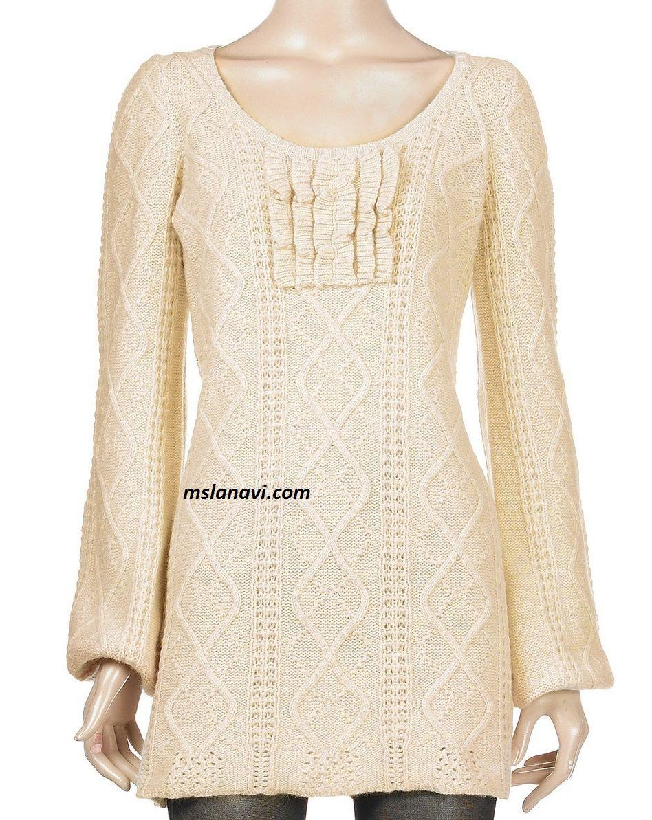 Вязаное платье спицами с воланами | dos agujas | Pinterest | Dos agujas