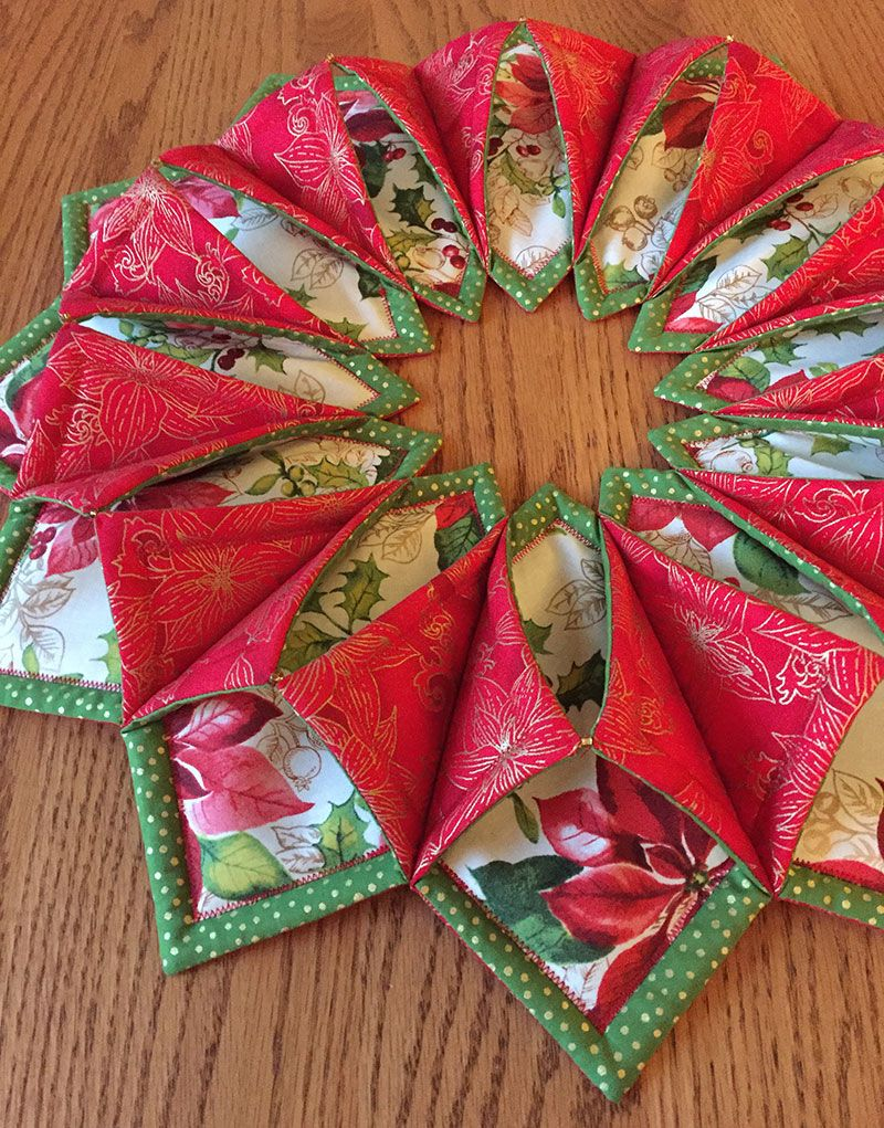 28++ Fabric origami christmas wreath ideas in 2021