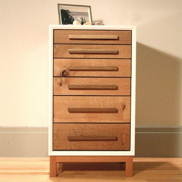 Bedside Chest furniture, storage, white oak