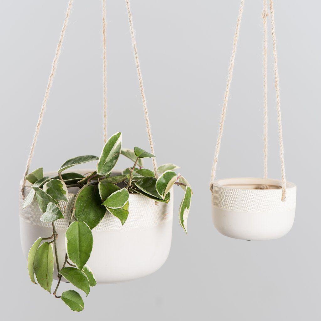 Simplicity Ceramic Hanging Planter Hanging Planters Hanging