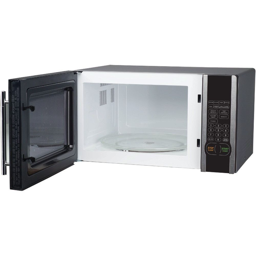 Magic Chef 1 Cubic Ft 1000 Watt Microwave With Digital Touch Stainless Steel